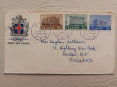 Iceland FDC Buildings 1962.  Island First Day Cover