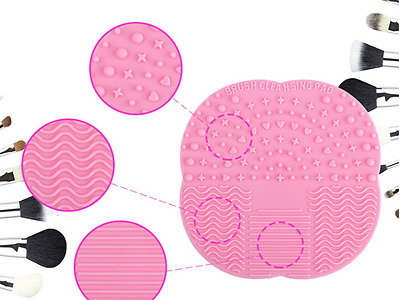 Makeup Brush Cleaning Mat Silicone Make Up Face Care Cleaner. Envio desde España