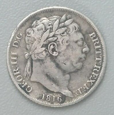 TWO 1816 KING GEORGE III SIXPENCE SILVER COINS. 2 X TANNER. 6d.