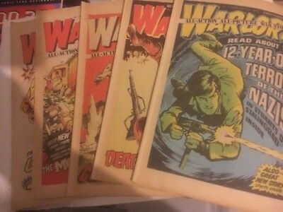 5 X Warlord Issues - 21 - 25 Decent Condition For Age - Battle Action 2000Ad