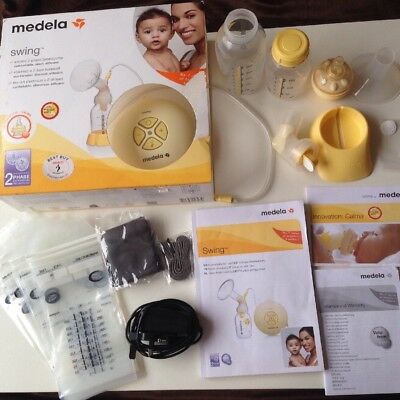 medela swing electric breast pump with Calma + extras ideal for breastfeeding