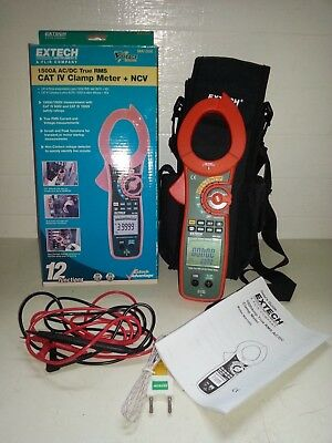 EXTECH Clamp Meter,1500A, CAT IV, MA1500,electric tester,electrician