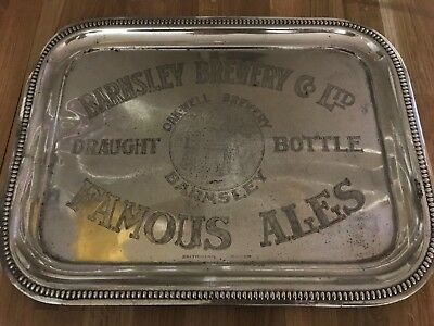 Barnsley Bitter Silver Tray Antique Rare Item Britonian Silver