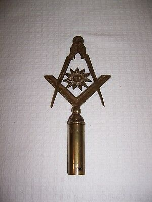 Masonic Rod Top Vintage/antique Senior Deacon Solid Brass Very Detailed