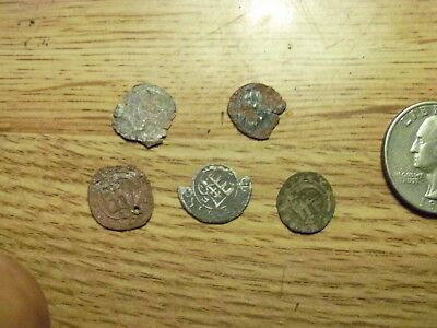 5 Unknown  Silver Medieval Coins  (lot # yy67