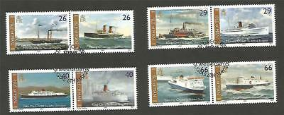 GB IOM ISLE of MAN 2005 STEAM PACKET F/U complete set of 8 HISTORY SHIPS LINERS