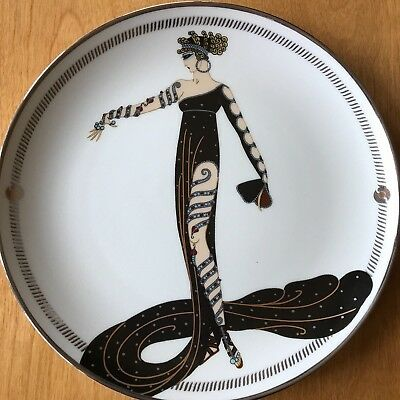 "Lot Of 6 House Of Erte Franklin Mint Limited Edition 8"" Fine Porcelain Plates"