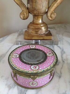 French Porcelain and Ormolu Sevres Style Signed Large Box