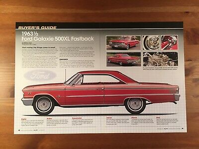 1963 1/2 Ford Galaxie 500Xl Fastback Buyer's Guide Magazine Ad