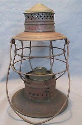 Early Patented Brass topped 1883 Railroad Lantern.