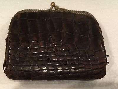 Vintage, Women's Pocket Coin Leather Purse. Very Old! # 5