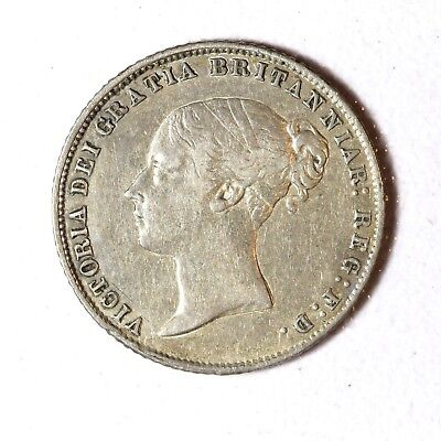 Great Britain Silver 6 Pence 1860