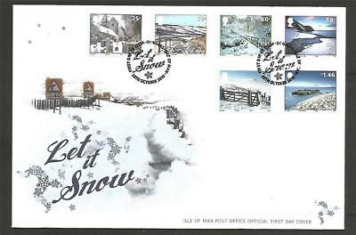 GB IOM ISLE of MAN 2010 LET IT SNOW XMAS WINTER FDC COVER SCENERY