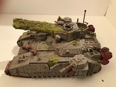 Warhammer 40k Nurgle  Baneblade 3 well converted and painted.