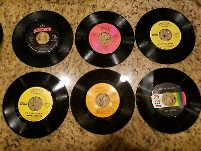 """Awesome lot of 26 old Country Juke Box 45rpm 7"""" Records"""