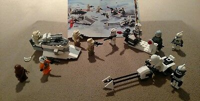 Lego Star Wars, snow trooper battle pack sets plus extra characters & manuals
