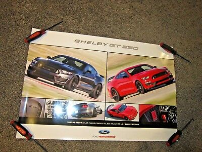 2017 Ford Mustang Shelby Gt350 & Gt350R - Ford Performance Dealer Poster - New