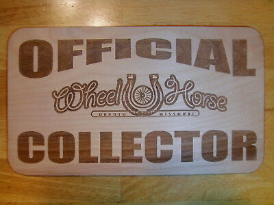 Official Wheel Horse Collector Wood Sign - suburban rj58 hub caps c 161 160