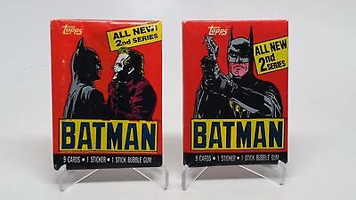 1989 Topps DC Comics Batman 2nd Series Sealed Wax Pack Lot of 2 Different Covers