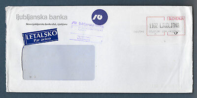 Ljubljana Slovenia 1998 commercial bank advertising cover Frama ATM