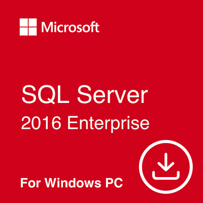 MS SQL Server 2016 Enterprise Edition - Genuine Download Activated