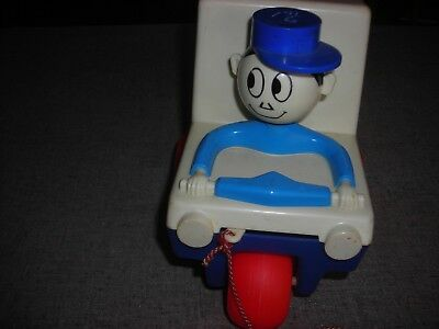 Mr Zip Pull Toy Plastic USPS Post Office Promotion for Zip Code circa 1960s
