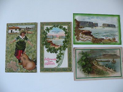 LOT of 4 VINTAGE/ANTIQUE ST PATRICK'S DAY POST CARDS - post01