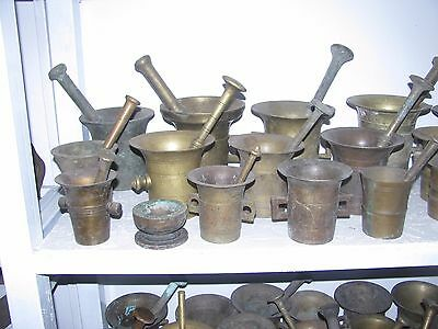 UNIQUE! Huge collection of ancient solid bronze mortars & pestles, 1500 pieces!