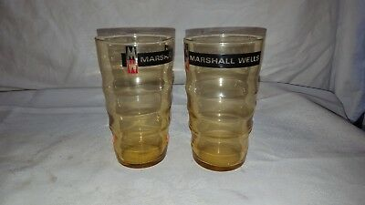 Marshall Wells Advertising Glasses High Ball Tumblers