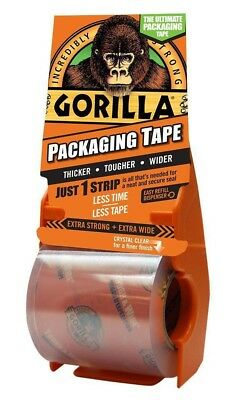 Gorilla Packaging Tape Shipping Storage Thick, Tough & Wide 35 Yd 32M