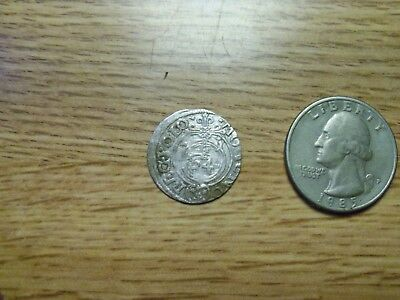 1600s  Silver Medieval Coin. ( lot # gg5