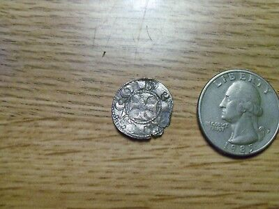 Unknown 1500s or 1600s  Silver Medieval Coin. ( lot # gg8