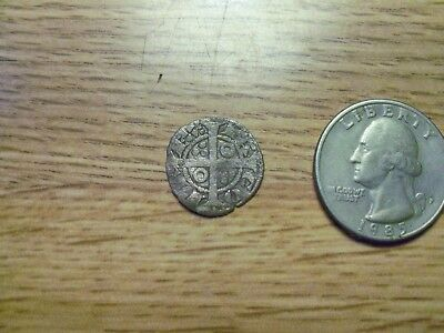 Unknown 1500s or 1600s  Silver Medieval Coin. ( lot # gg13