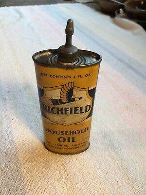 Early Richfield Oval Lead Top  Home Oiler Tin