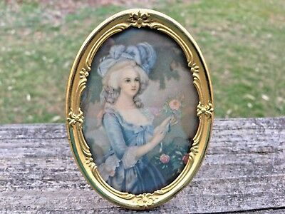 Antique K & O CO. Oval Brass Ornate Picture Frame-Small