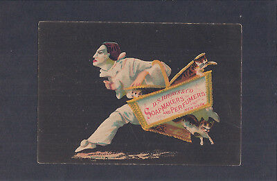 Victorian Trade Card  D. S. Brown & Co. Soapmakers and Perfumers