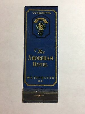 Vintage Matchbook Cover: The Shoreham Hotel Washington DC Please see the picture