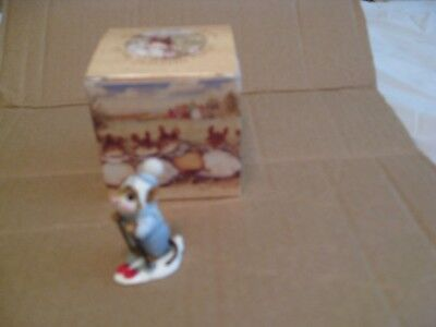 early WEE FOREST FOLK MICE, SKIER MOUSE, MS-9,1979, AP, mouse with box