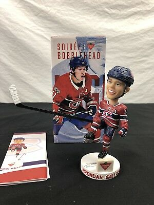 NEW 2018 Montreal Canadiens Team Issued BRENDAN GALLAGHER Bobblehead bobble head