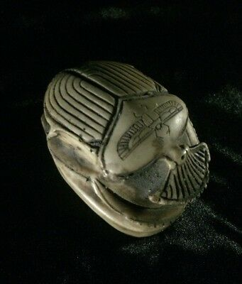 RARE ANCIENT EGYPTIAN SCARAB Antique VINTAGE Egypt PHARAONIC Carved STONE Bc