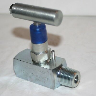 "1/2"" NPT Steel Needle Valve A105 NACE (6000 Psi @ 200F) C&C Industries"