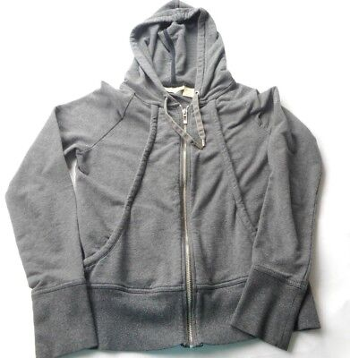 8f472f09ed29 DKNY JEANS DARK Gray Zip up Hoodie Sweatshirt Women s Extra Small ...