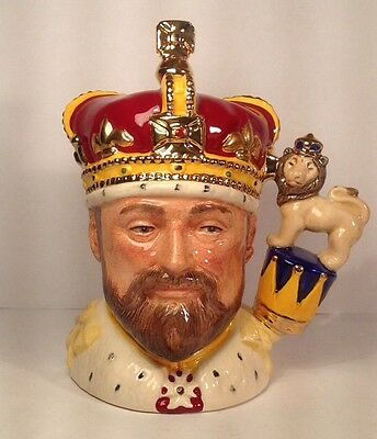 Royal Doulton D6923 King Edward Vll SMALL Character Jug Limited Edition
