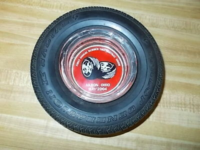 Vintage Tire Ashtray Dunlop With Glass Insert