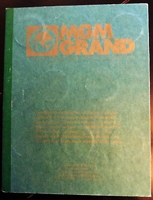 MGM Grand Theme Park 1st Edition Token Medallion Collectable Book 1000 Made