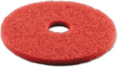 Boardwalk Standard Red 16' Buffing Floor Pads, 5 Count