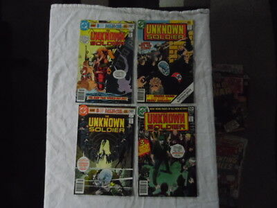 Lot of 7 vintage comic books. Unkown soldier.