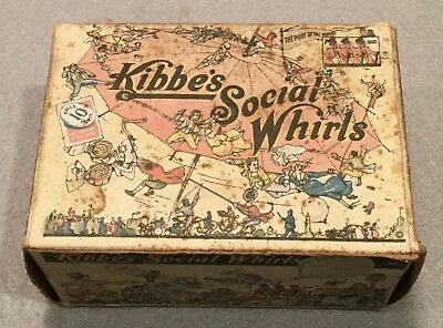 c.1920s Scarce KIBBE'S SOCIAL WHIRLS Caramel Marshmallow Candy Advertising Box