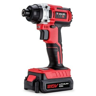 20V Lithium Cordless Impact Driver Electric Screwdriver Hex Tool