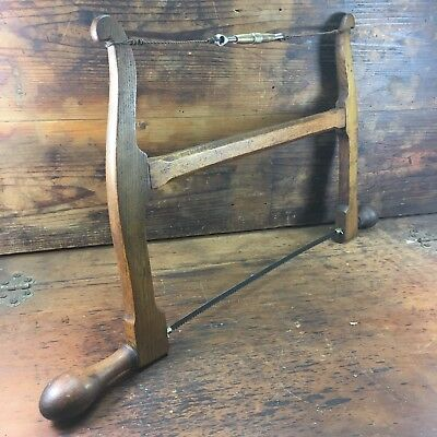 """Stunning Antique Maple 16"""" Frame Saw Vintage Woodworking Tools"""